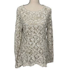 Anthropologie Moth Open Knit Wool Blend Sweater Size Small